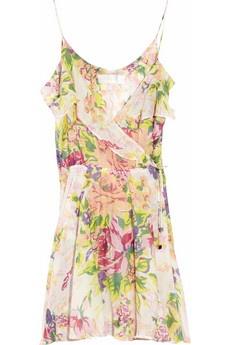 Zimmermann- floral cotton wrap dress