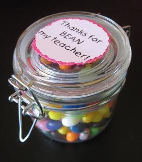 Thanks for Bean My Teacher...Valentine Gift or Easter Gift