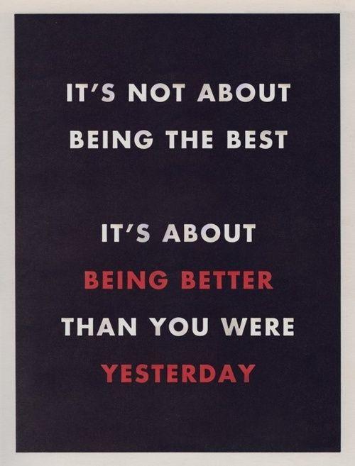 better than yesterday.
