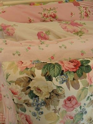 love the cottage fabrics on these pillow cases