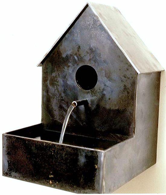 bird house + bird bath