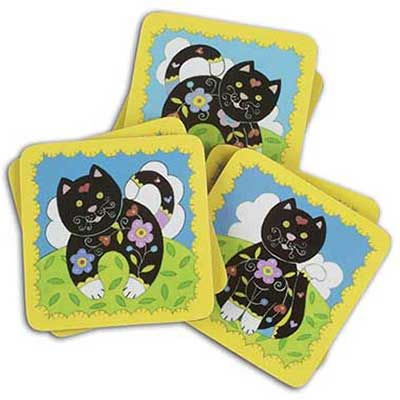 These cute #cat #coasters are perfect for your morning cuppa and brightening up your home.