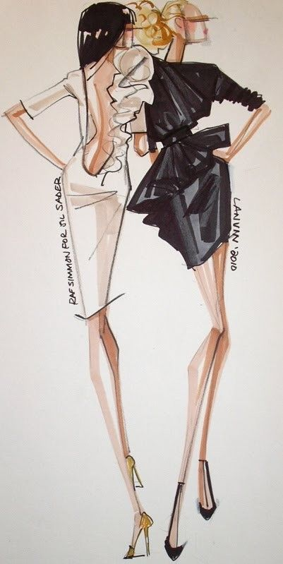loving this fashion illustration using markers