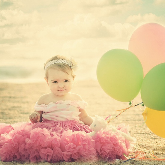 Baby + Balloons = Cuteness