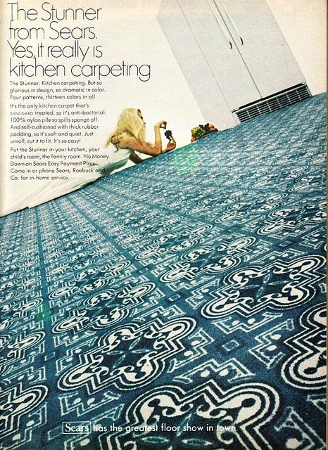 Kitchen carpet - Better Homes & Gardens  November 1968