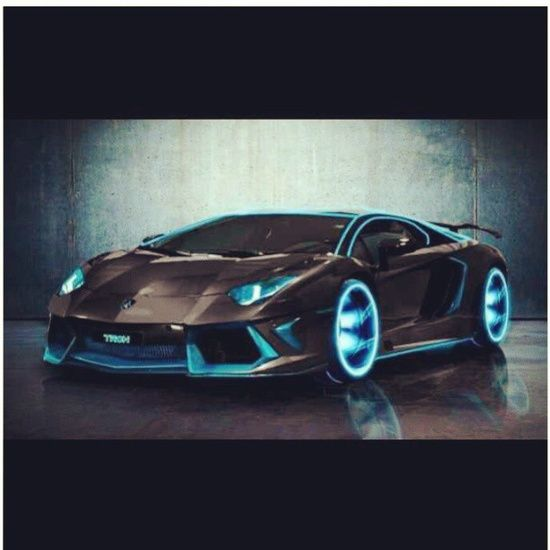 'Tron' inspired Lamborghini Aventador! #ferrari vs lamborghini #customized cars #celebritys sport cars