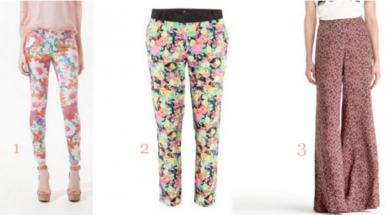 floral pants for summer