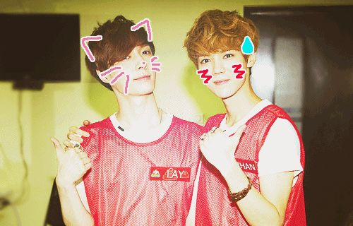 Lay and Luhan from EXO
