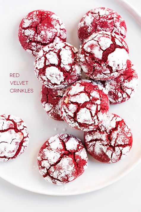 Red Velvet Crinkle Cookies Recipe - These are to die for!