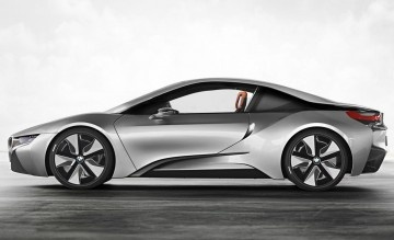 2014 BMW i8 Coupe - First Look from Road and Track  These illustrations reveal the production version of BMW's plug-in hybrid sports car.