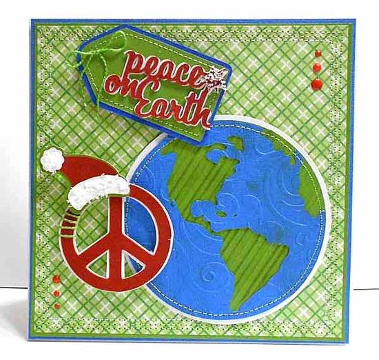 Peace on Earth card made with the #Cricut