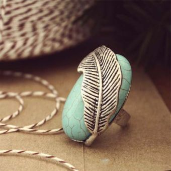 Feathered Turquoise Ring