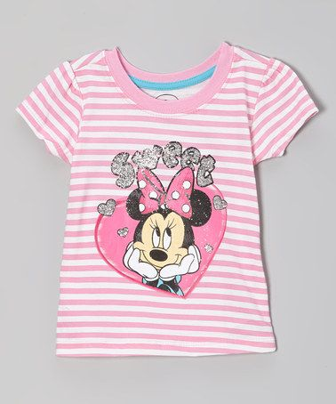 Take a look at this Pink Stripe 'Sweet' Tee - Toddler by Minnie's Bow-Tique on #zulily today!