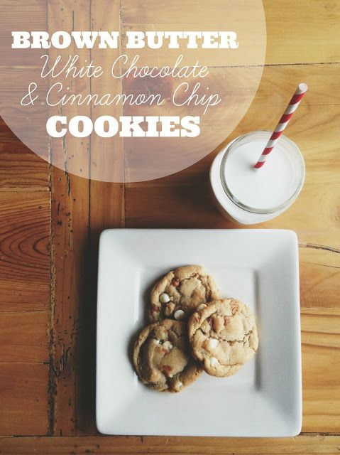 Brown Butter White Chocolate & Cinnamon Chip Cookies Recipe - Whipperberry
