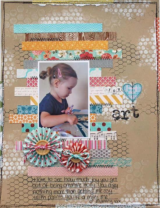 Love this layout #scrapbook