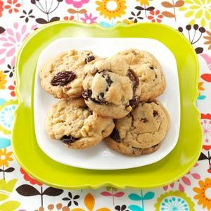 Mom's Soft Raisin Cookies Recipe from Taste of Home -- shared by Pearl Cochenour of Williamsport, Ohio