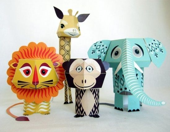 $5.30 template on Etsy to make these cute little animals. They have lots of sets to choose from and they'd be great for a kid's party. These would actually be easy to create yourself. #party #kids #crafts #fun