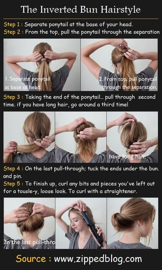 Inverted Bun Hairstyle