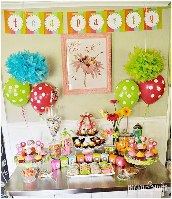 Tea party birthday ideas...