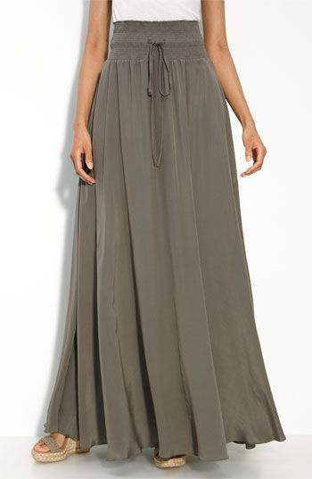 washed silk Maxi Skirt