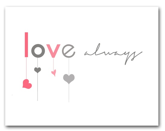 free valentine print // love always at bigredclifford.com