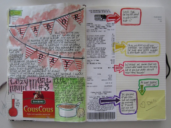 moleskine calendar entries by Miss Cranbourne
