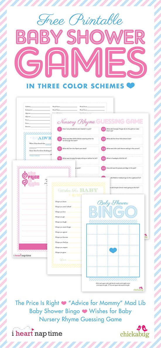 Free Printable Baby Shower Games! #baby #showers