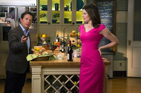Love the this kitchen tile on the new Michael J. Fox Show. #kitchen #interiors #tile
