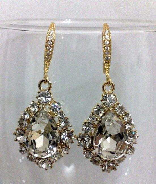 pretty Swarovski earrings