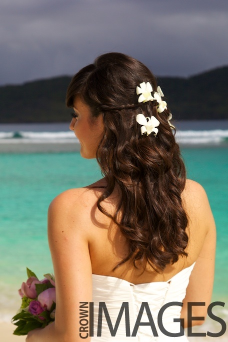 Beautiful flowers in hair