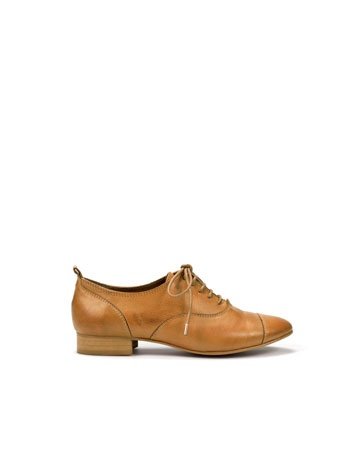 classic brown leather oxford
