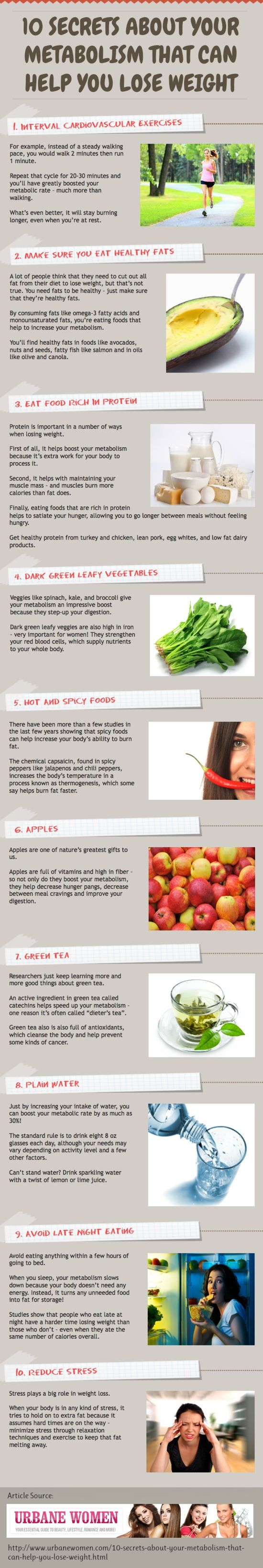 10 Secrets About Your Metabolism That Can Help You Lose Weight! [ INFOGRAPHIC ]