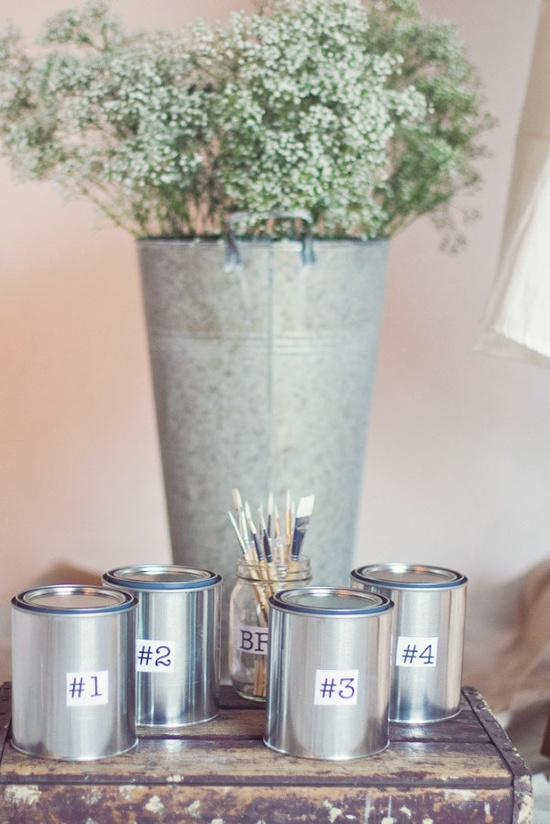 love this idea of a paint by number guest book  Photography by closertolovephoto..., Wedding Coordination by wishwonderdream.com