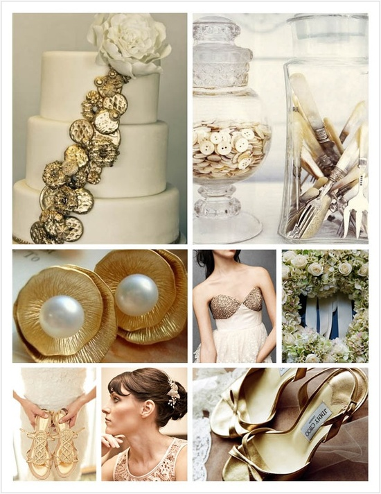 Silver and Gold wedding theme