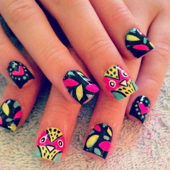 Owl #Nails #nailart