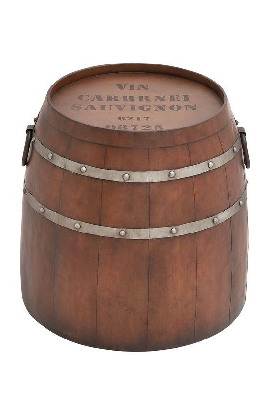 Demi Wine Barrel Accent Table