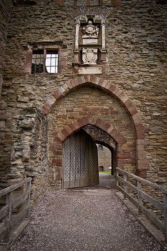 Drawbridge- Ludlow Castle, England