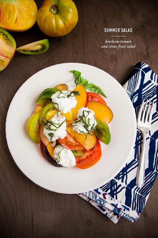 Heirloom Tomato and Stone Fruit Salad / + a chance to win $50 to Whole Foods Market- click photo for details.