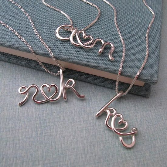 Initial lovers necklace.