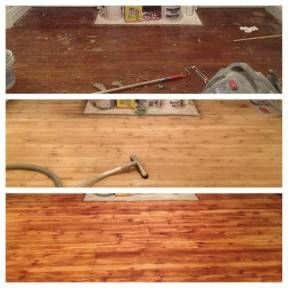 Refinishing our hardwood floors before and after pics! #beforeafter #lifeonhillst #diy #hardwoodfloors