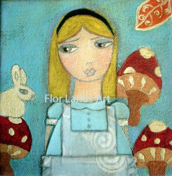 """Alice in Wonderland"" ~  Print from Painting by FLOR by FlorLarios"