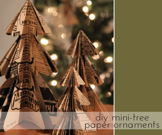 diy paper christmas tree ornament