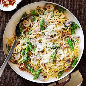 Prosciutto and Asparagus Pasta
