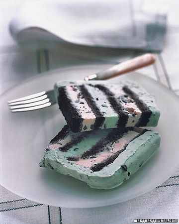 Mint chocolate chip ice cream cake