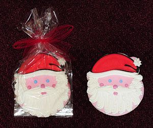 Santa Face Decorated Cookie Favors