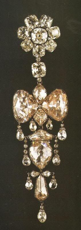 Diamond Brooch. Belonged to Empress Eugenie. Part of the French Crown Jewels.
