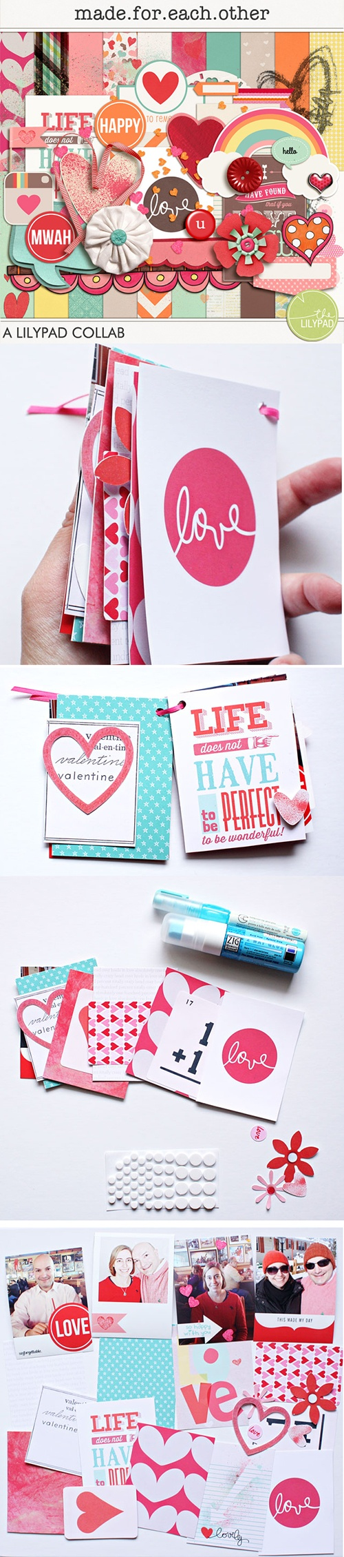 'Made For Each Other' - Free kit + Hybrid Tutorial from The Lilypad #ProjectLife #Scrapbooking #Printables