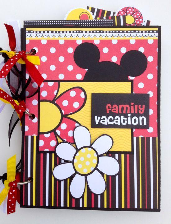 #papercraft #disney #scrapbook #layout Disney Scrapbook Kit 6x8 Vacation Mini Album. $42.99, via Etsy.