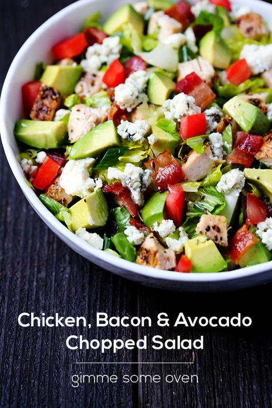Chicken Bacon & Avocado Chopped Salad