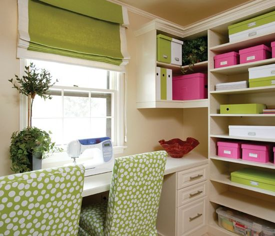 open shelving office space